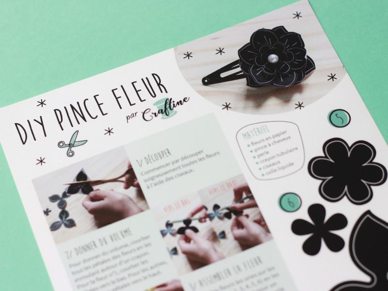 craftine mercerie barrette fleur diy paper art