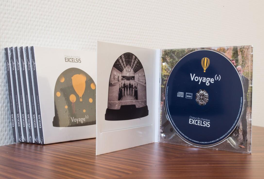 cd pochette paper art excelsis musique choeur de chambre