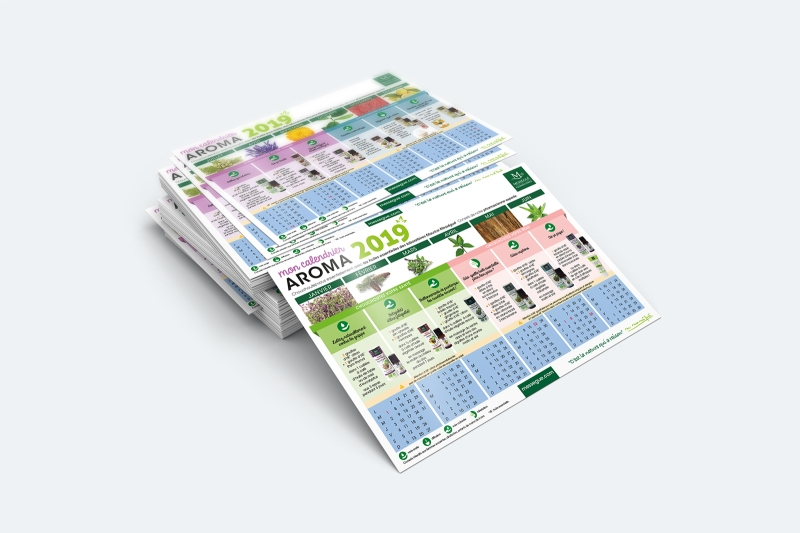 messegue calendrier graphisme aromatherapie