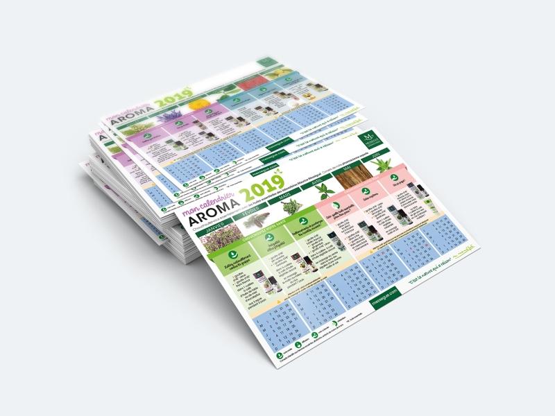 messegue calendrier graphisme aromatherapie