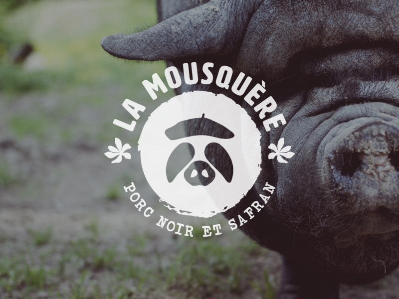 mousquere logo porc noir gascon