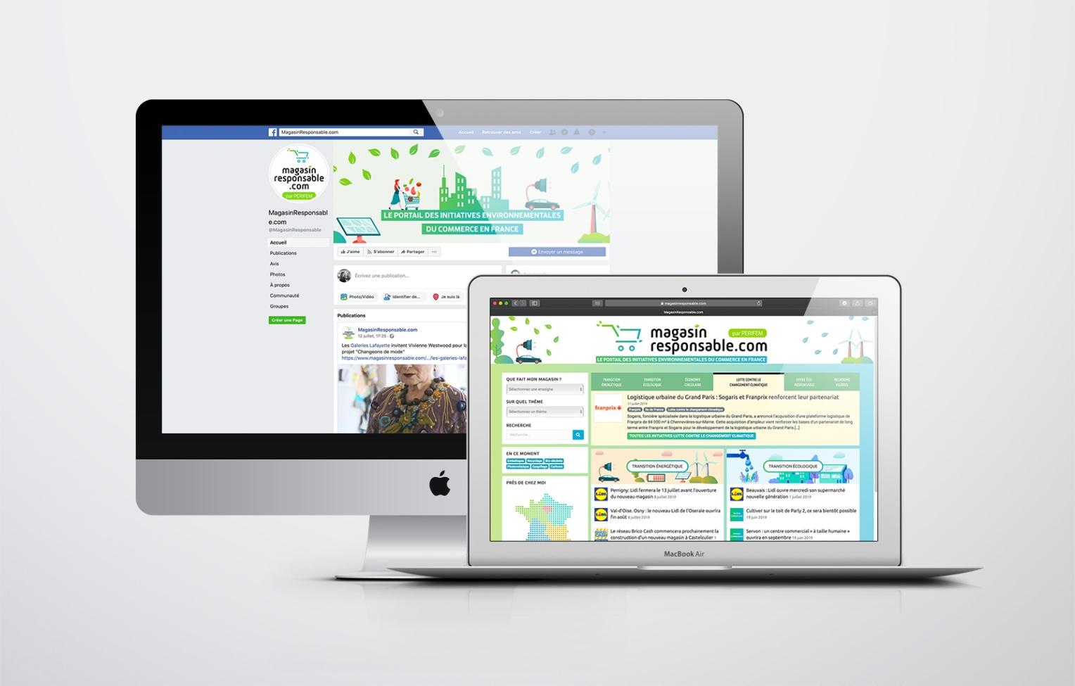 site internet magasin responsable Facebook perifem
